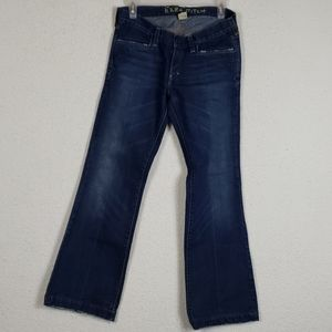 Ezra Fitch flare distressed jeans size 26